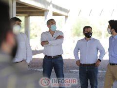 Abed y Vaquié visitaron las instalaciones del futuro parque tecnológico del Sur mendocino